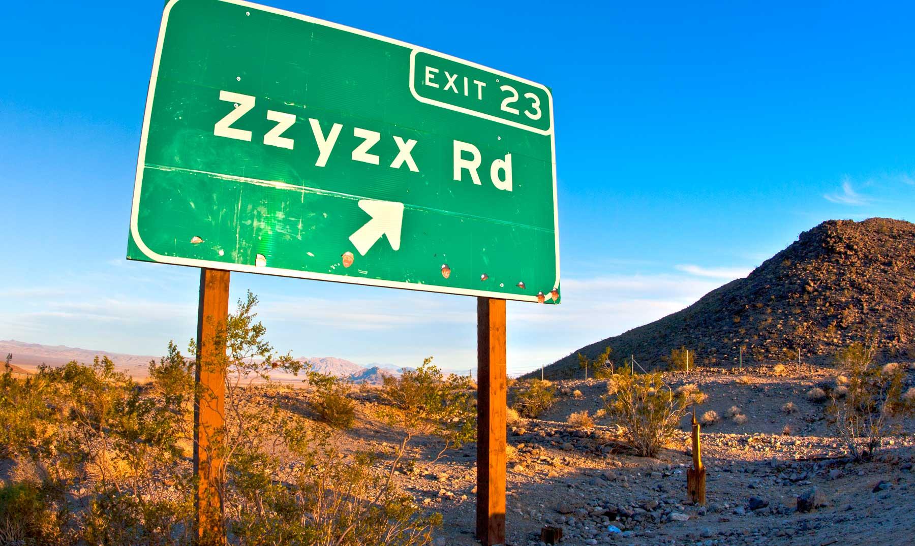Zzyzx, el último pueblo del mundo