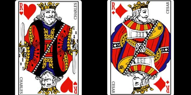 Los reyes de la baraja ¡son reyes de verdad!