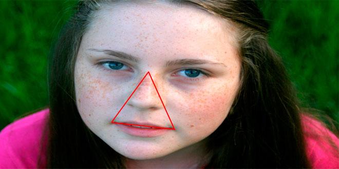 Hay un triángulo de la muerte en tu cara y tocarlo mucho pod