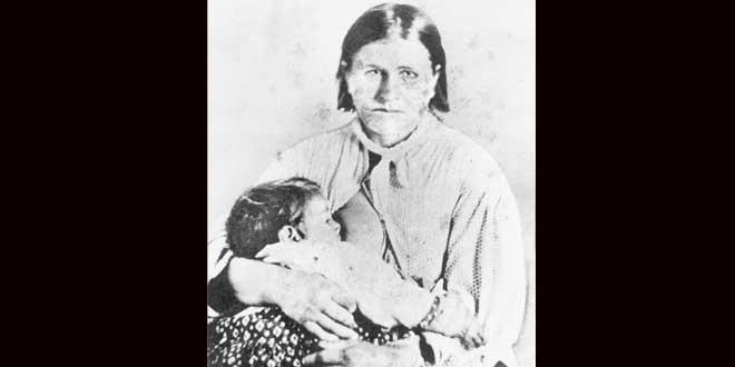 Cynthia Ann Parker, una niña real, secuestrada por los comanches
