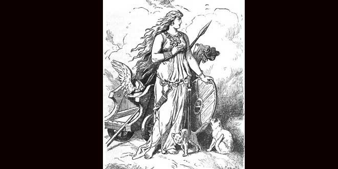 Bygul y Trjegul los gatos que conducían el carro de Freya