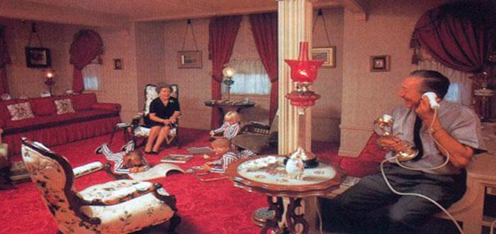 El apartamento secreto de Walt Disney en Disneyland