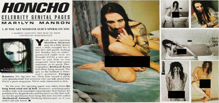 Marilyn Manson: sexo a oscuras, con ropa, a 18º y
