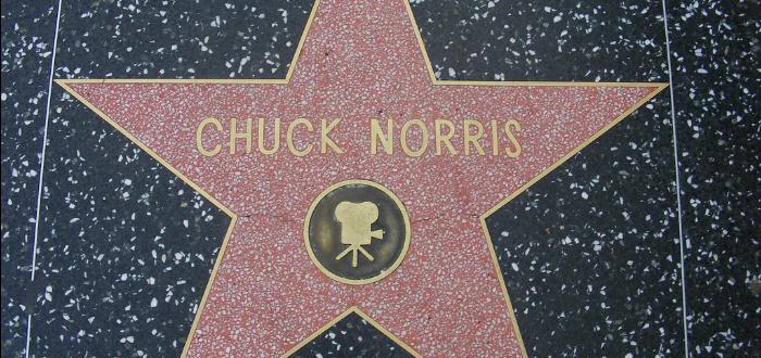 estrella en el paseo de la fama, cuck Norris