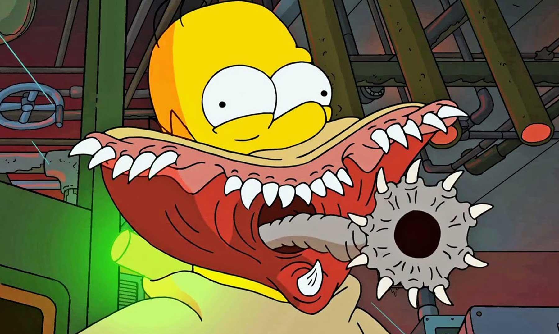 La intro de los Simpsons más terrorífica