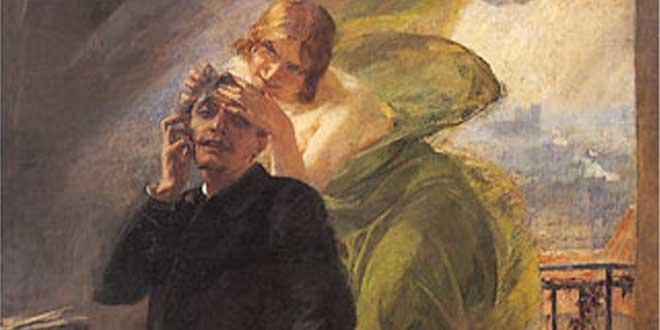 "Albert Maignan, ""Musa Verde"" (1895): un poeta sucumbe al hada verde"