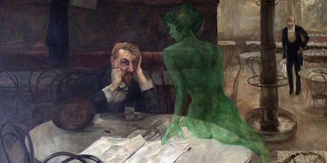 arte y absenta, hada verde