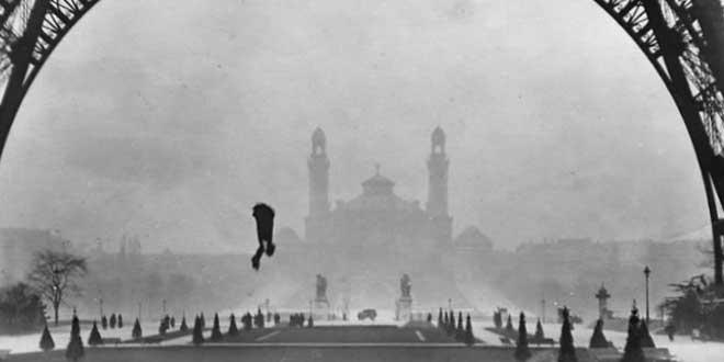 El fatal salto en paracaídas de Franz Reichelt, 1912