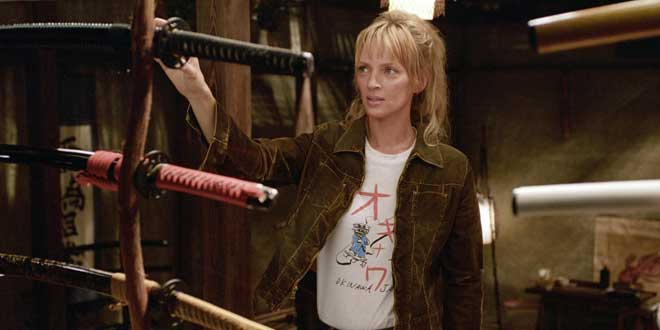 Uma Thurman en Kill Bill: Volumen 1 de Quentin Tarantino, 2003