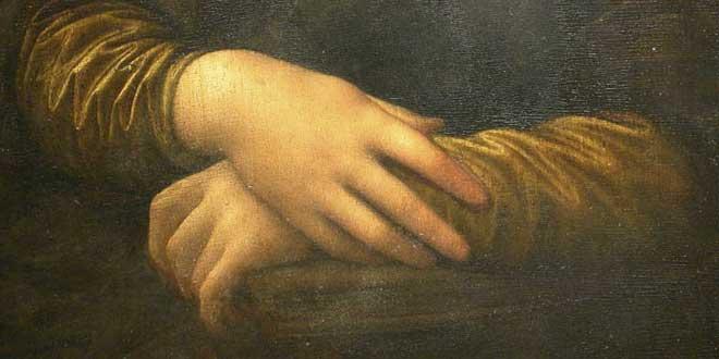Detalle. La Gioconda (1503–1505/1507) - Louvre, París, Francia