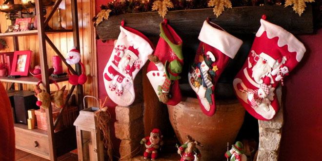 Origen tradicion calcetines chimenea