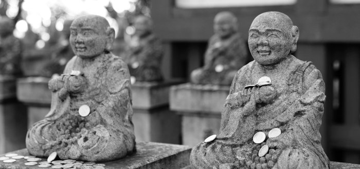 Japanese statue in temple