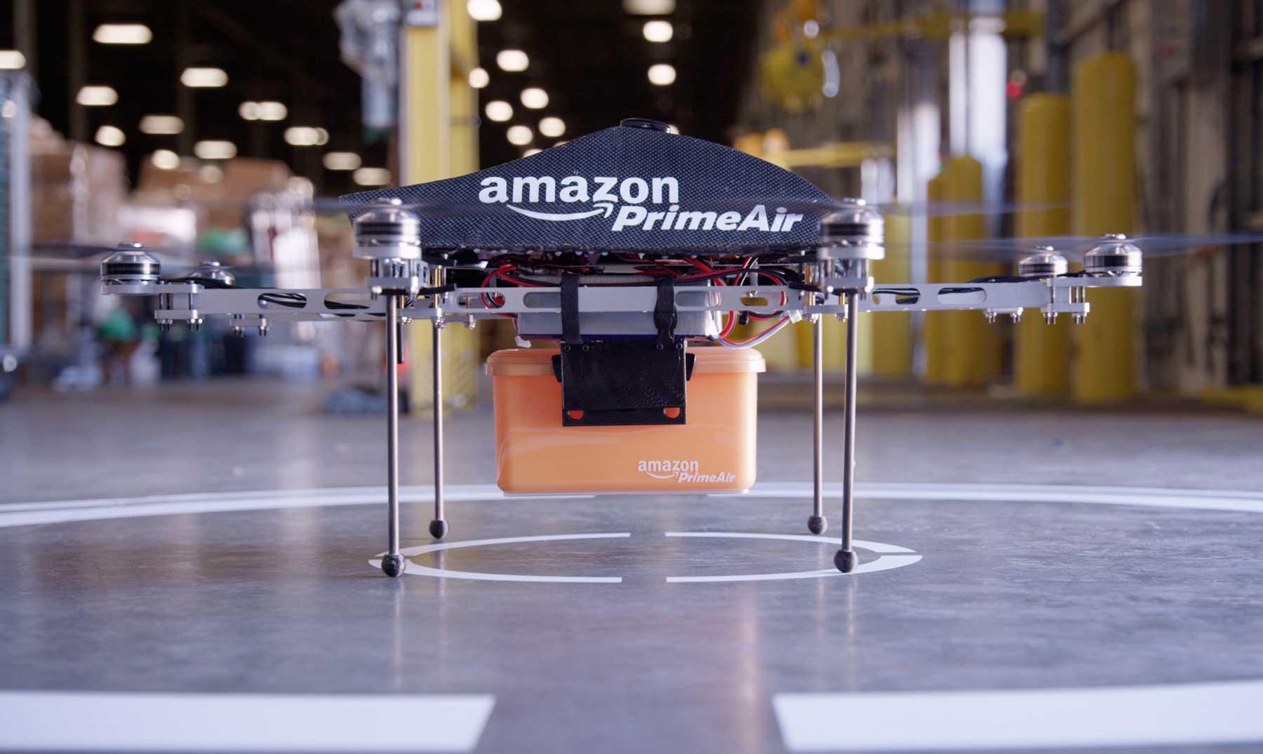 Amazon podría repartir sus paquetes con drones