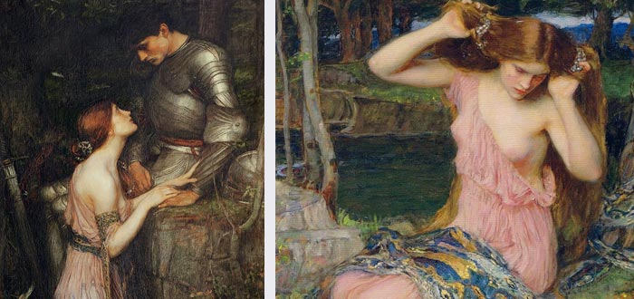 Lamia, desde el punto de vista del pintor John William Waterhouse