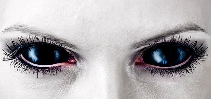 lamia, vampira, ojos