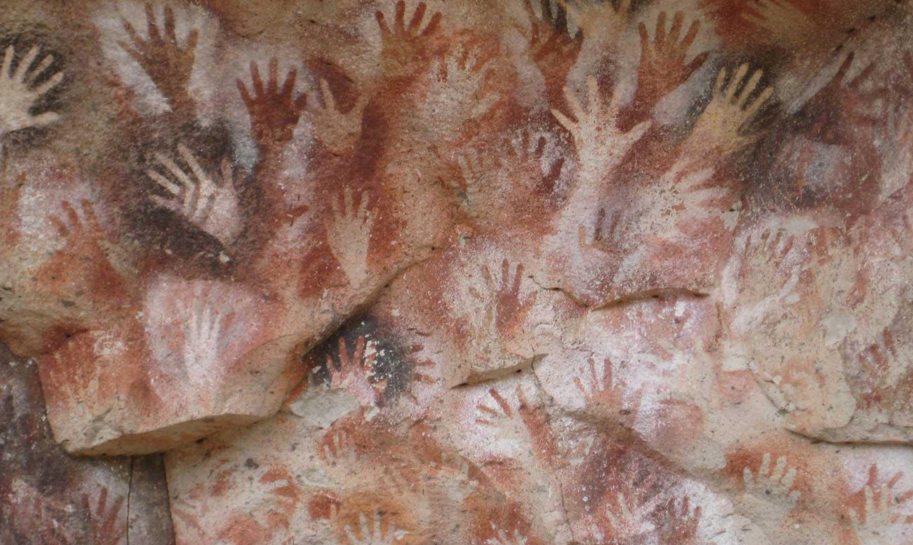 La cueva de las manos en la Patagonia