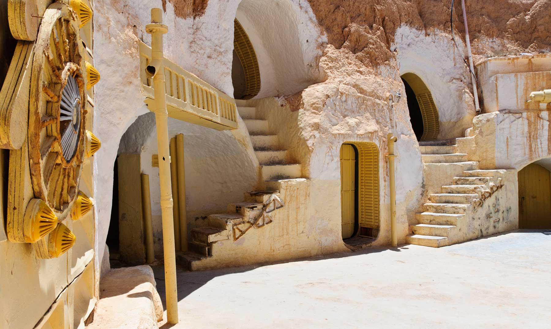 Matmata Túnez el escenario lunar de Star Wars
