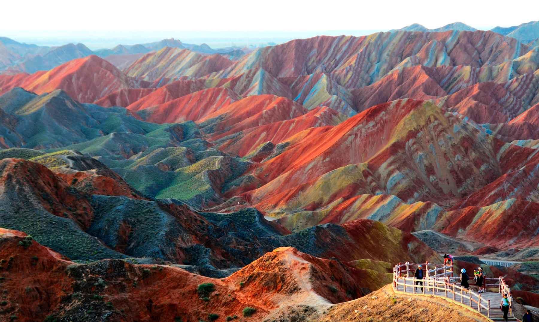 Las asombrosas montañas de colores de Zhangye Danxia