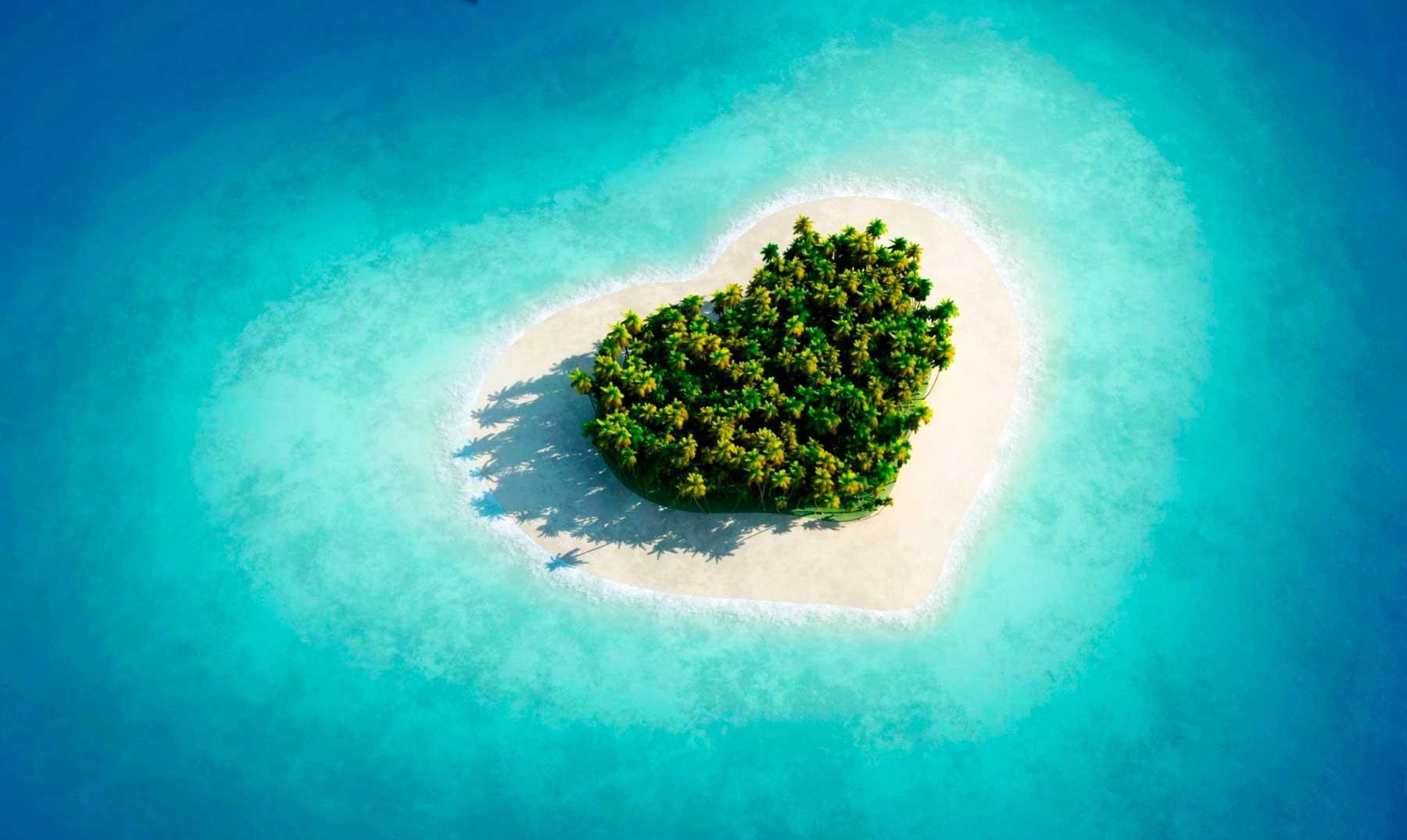 Las tres islas en forma de corazón