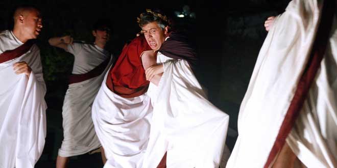 Recreación asesinato de emperador romano