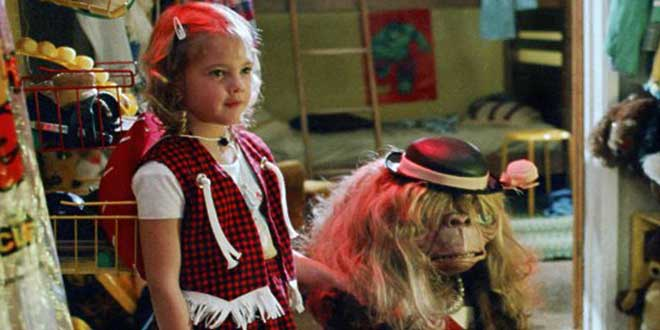 "Detalle de un clip de la película ""E.T."" de Steven Spielberg (1982)"