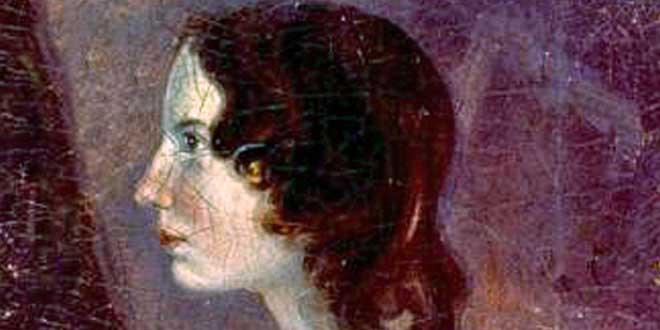 Detalle. Retrato de Emily Brontë. realizado por su hermano Branwell Brontë