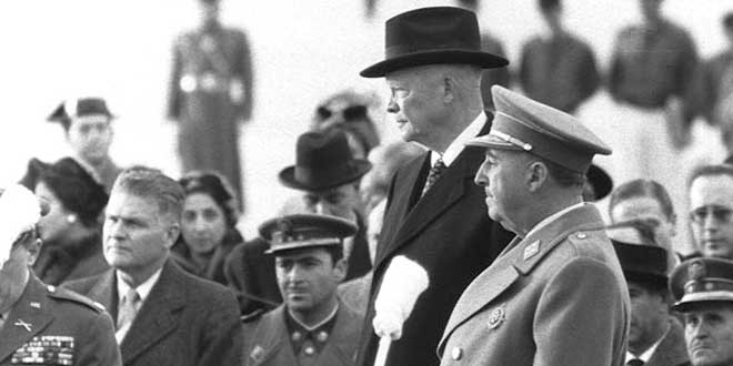 Francisco Franco y Dwight D. Eisenhower en Madrid en 1959