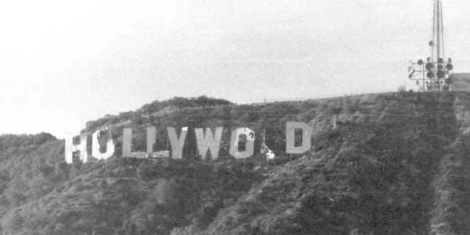 Cartel de Hollywood durante los 70. Antes de la restauración definitiva de 1978.
