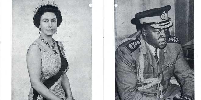 La Reina Isabel II e Idi Amin Dada
