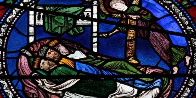 Vidriera de la Catedral de Canterbury (1180 d.C.)