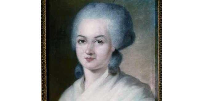 Detalle. Alexander Kurschkarsky, Retrato de Marie Olympe de Gouges (1748-1793)