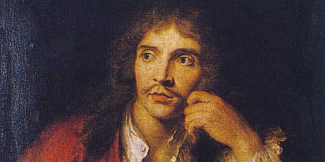 Detalle. Retrato de Molière (1730). Charles-Antoine Coypel.