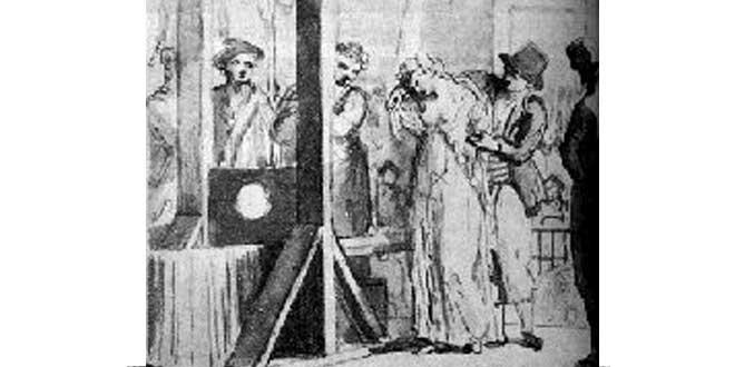 Detalle. Metais, Ejecución de Olympe de Gouges (1793)