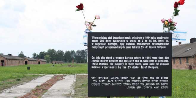 Homenaje a los niños víctimas de Mengele