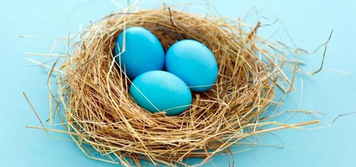 Huevos azules, alimentos azules