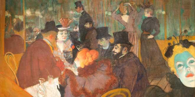 At the Moulin Rouge, 1892/95, Henri de Toulouse-Lautrec