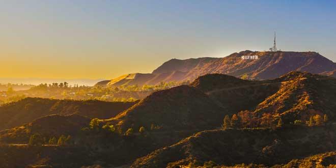 Colinas de Hollywood, con el famoso cartel al fondo.