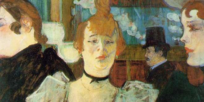 Detalle. La Gouloue llegando al Moulin Rouge con dos mujeres. 1892. Henri de Toulouse-Lautre