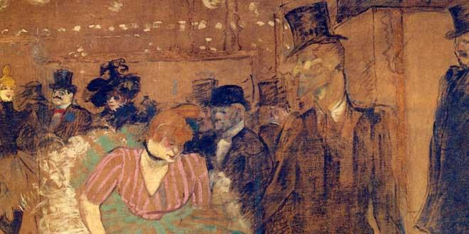 Henri de Toulouse-Lautrec. Dancing at the Moulin Rouge,1895