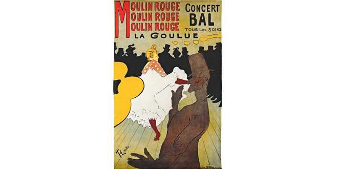Póster publicitario, Moulin Rouge: La Gouloue (Litografía), 1891. Henri de Toulouse-Lautrec