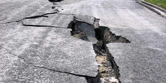 Grietas causadas por terremoto