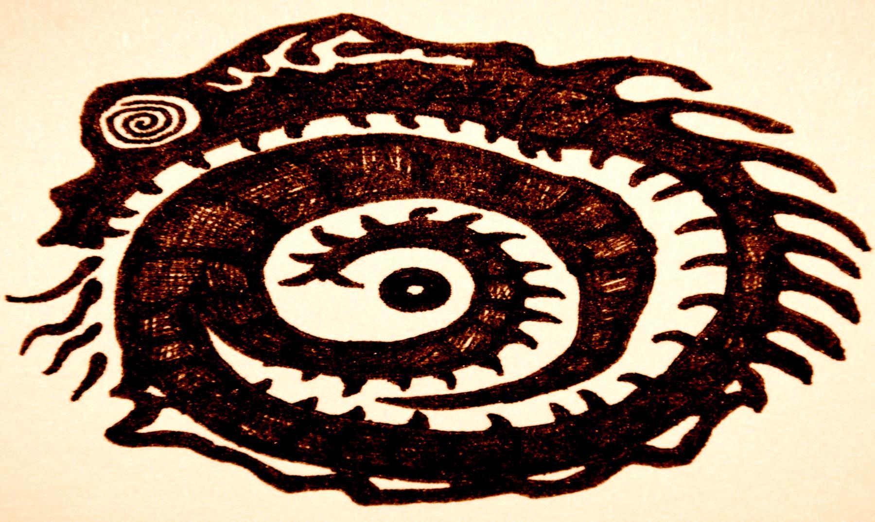 uróboros símbolo del eterno retorno y la continuidad de la vida