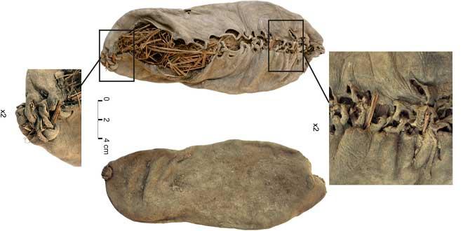 Zapatos de hace 5.500 años (aprox.) hallados en Armenia