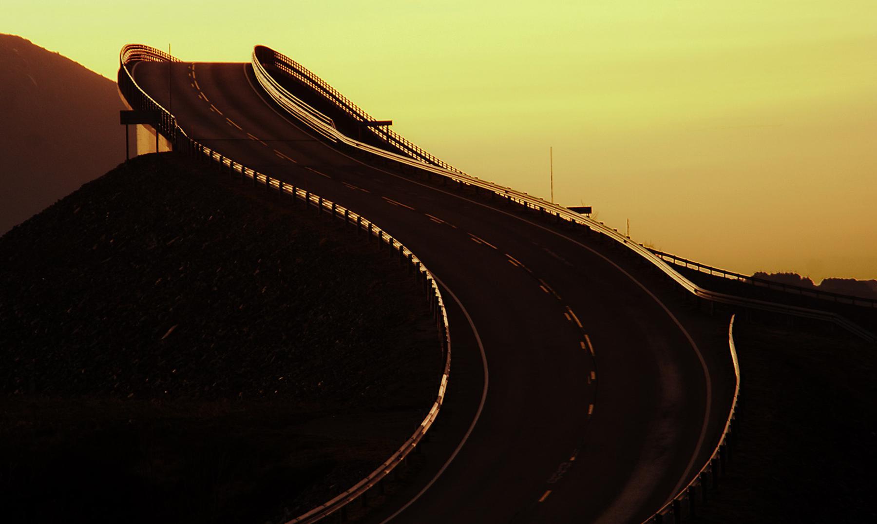 """La carretera más asombrosa del mundo: """"Atlantic road"""""""