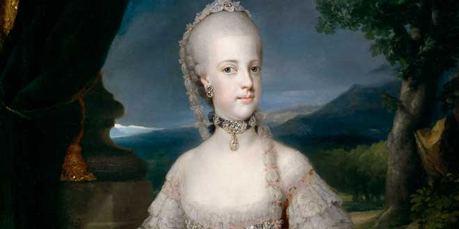 Detalle. Retrato de Maria Carolina d'Asburgo-Lorena (1768) de Anton Raphael Mengs