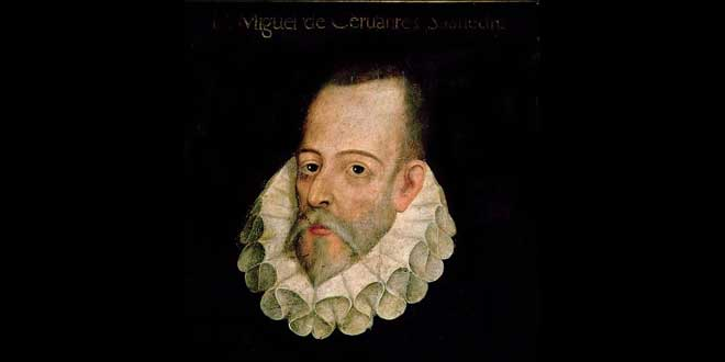 Retrato de Miguel De Cervantes, supuestamente por Juan de Jáuregui (aprox. 1600)