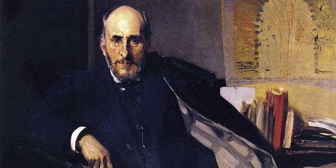 Retrato de Santiago Ramón y Cajal (1906), por Joaqín Sorolla en Óleo sobre lienzo. Museo Provincial de Zaragoza.