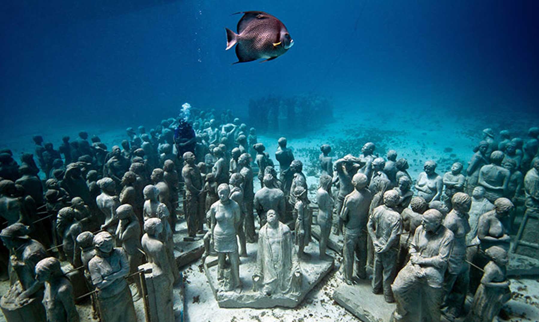 Arrecife de esculturas submarinas, arte eco-friendly