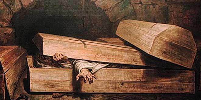 ataúdes enterrado vivo