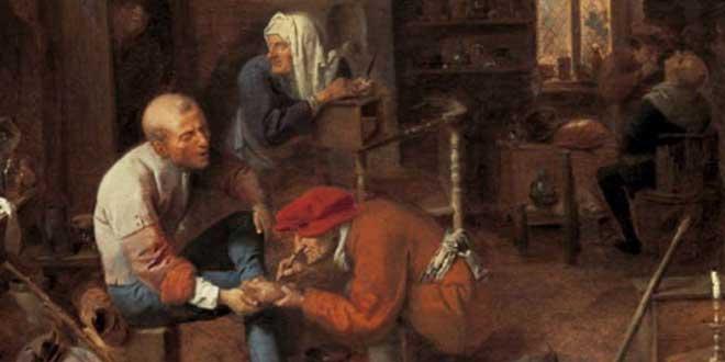 """""""La operación"""" de Adriaen Brouwer (sobre 1632)"""